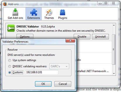 End to end DNSSEC