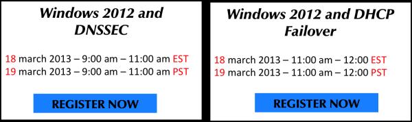 Windows 2012 Webinars