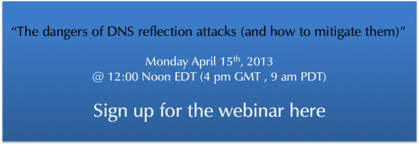 The dangers of DNS reflection attacks (and how to mitigate them) - Webinar